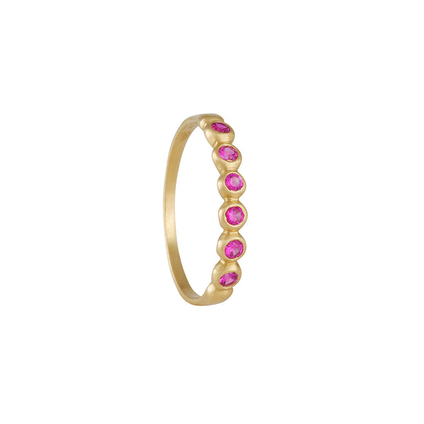 MARIAN MAURER - 2mm Porch Band with Pink Sapphires