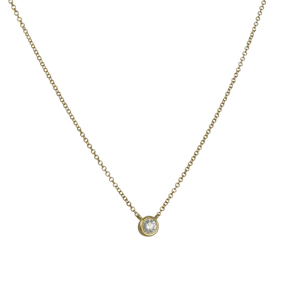 Cp Collection - Double Bezel Diamond Necklace in 14k yellow gold