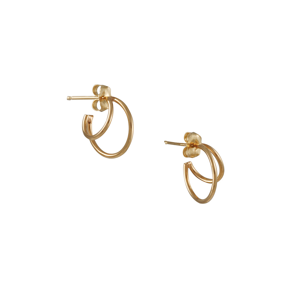 Zoe Chicoo - X-small Double Wire Hoops