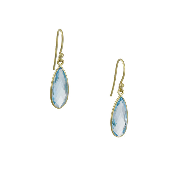 Kothari - Bee's Wings Earrings in Blue Topaz