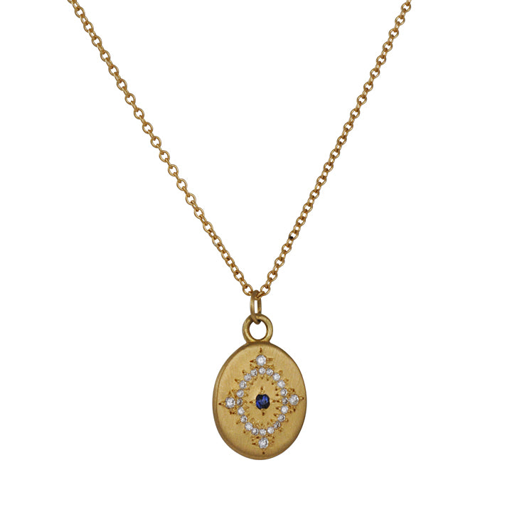 ADEL CHEFRIDI - Daydream Pendant Necklace with Diamonds and Sapphire