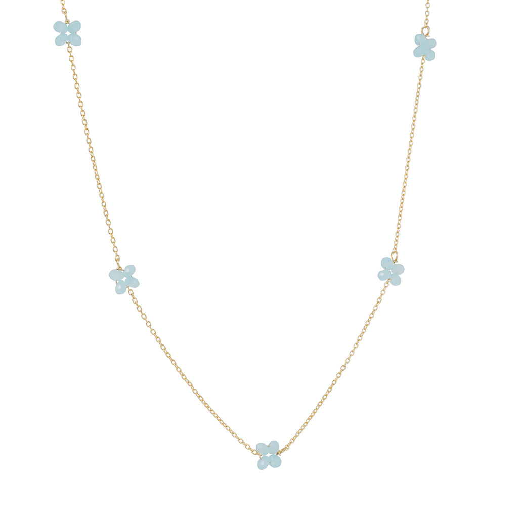CHRISTINA STANKARD - Blossom Necklace with Chalcedony
