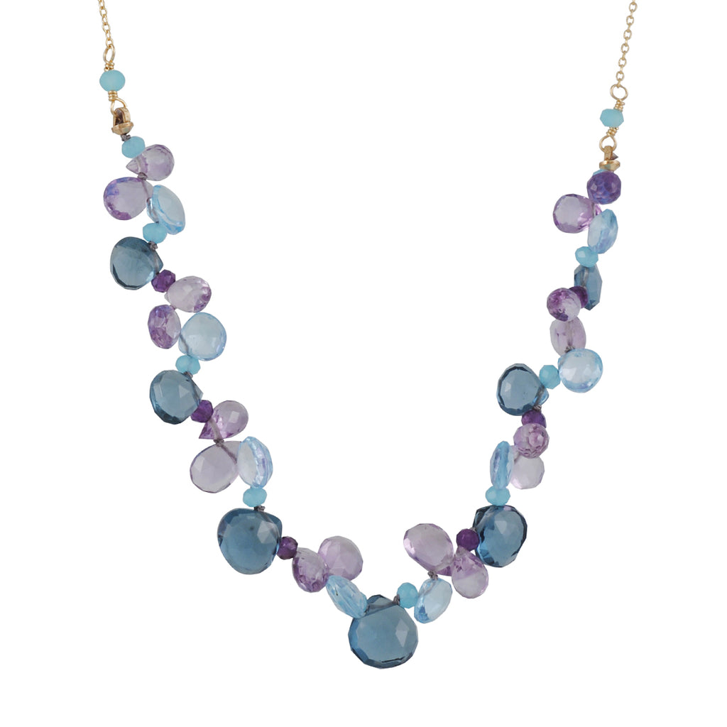 Christina Stankard - Blue Topaz and Amethyst Necklace