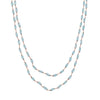 CHRISTINA STANKARD - Long Station Necklace in Aquamarine