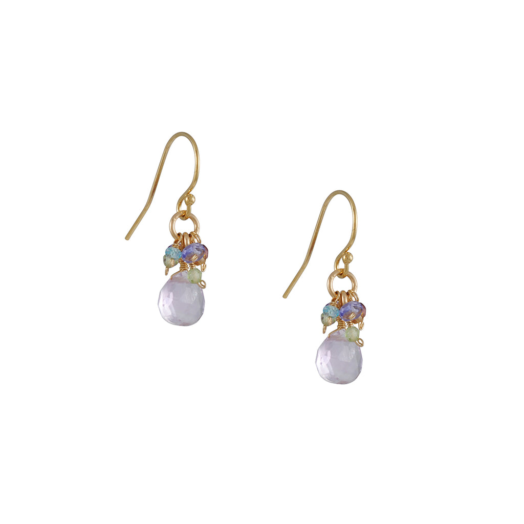 Christina Stankard - Pink Amethyst Cluster Earrings