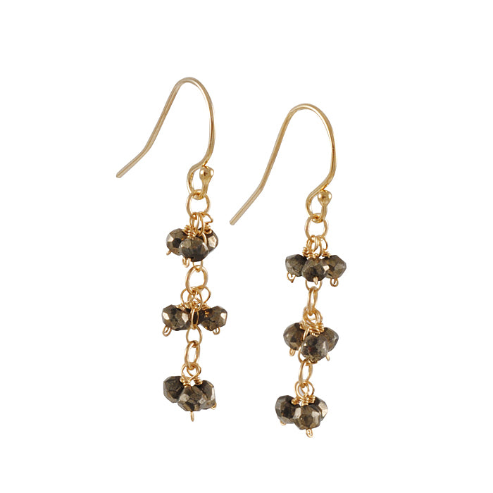 CHRISTINA STANKARD- Pyrite Cluster Earring