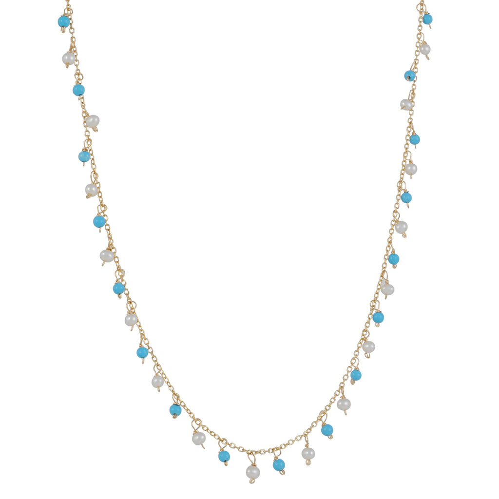 Christina Stankard - Turquoise and Pearl Necklace