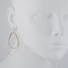 COLLEEN MAUER - Large Topography Drop Earrings in Sterling Silver and Gold Fill