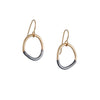 COLLEEN MAUER - Mini Stone Drop Earrings in Oxidized Sterling and Gold Fill