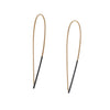 COLLEEN MAUER - Two Toned Large Pull Through Hoop Earrings