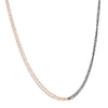 "COLLEEN MAUER - Two-Toned Line Necklace, 21"" Chain"