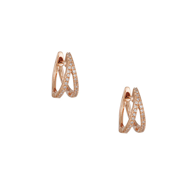 CP Collection - Diamond Split Huggie Hoops