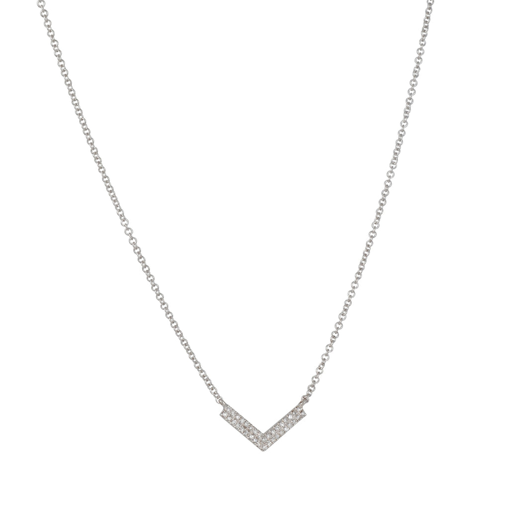 CP Collection - Diamond Chevron Necklace