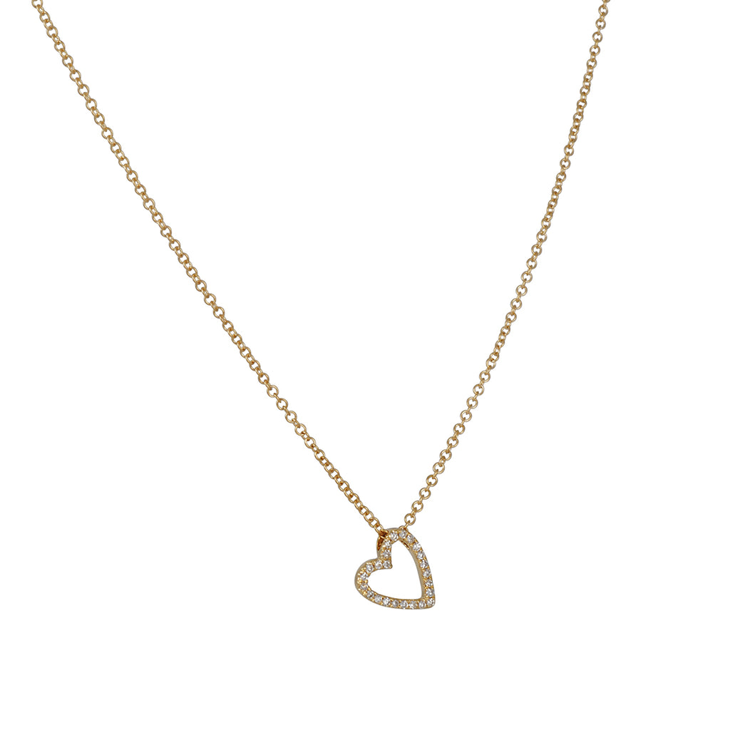 CP Collection - Askew Diamond Heart Necklace