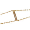 CP COLLECTION - Diamond Bar Bracelet in Yellow Gold