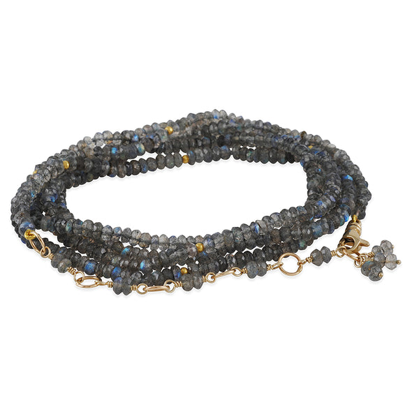 CP Collection - Labradorite Wrap Bracelet and Necklace