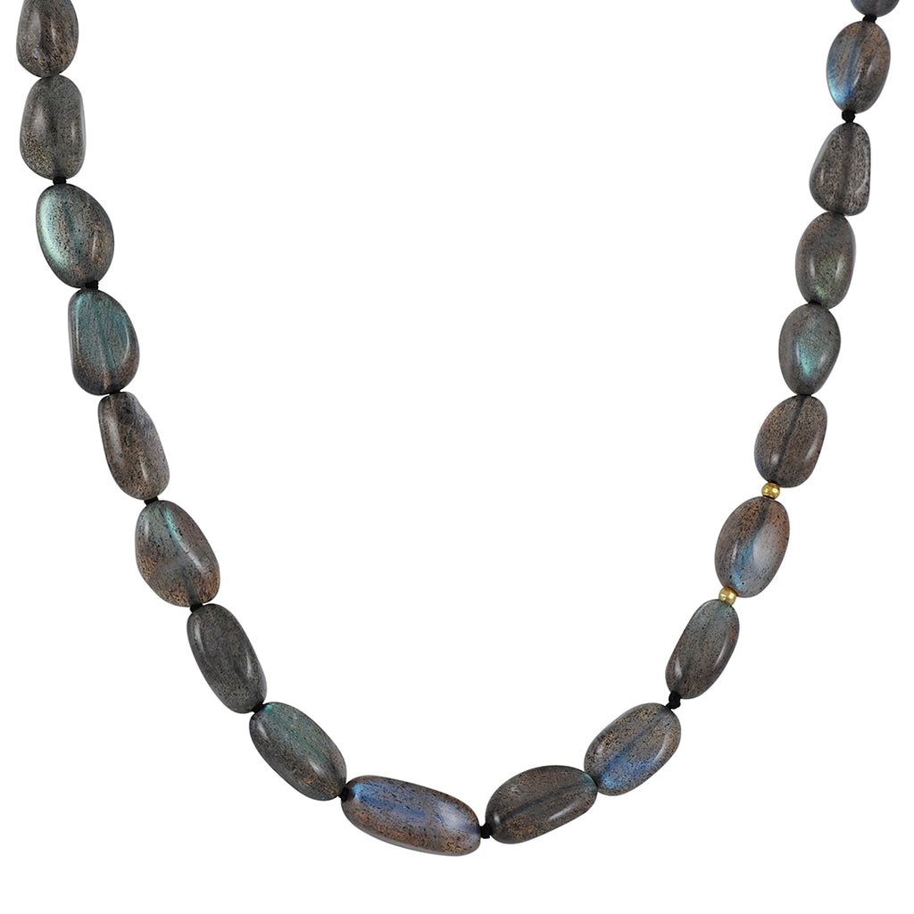 CP Collection - Smooth Labradorite Necklace