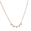 CP COLLECTION - Tiny Pave Triangles Necklace in Rose Gold