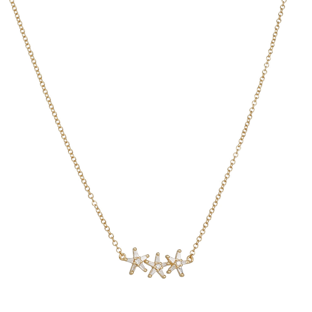 CP Collection - Diamond Stars Necklace