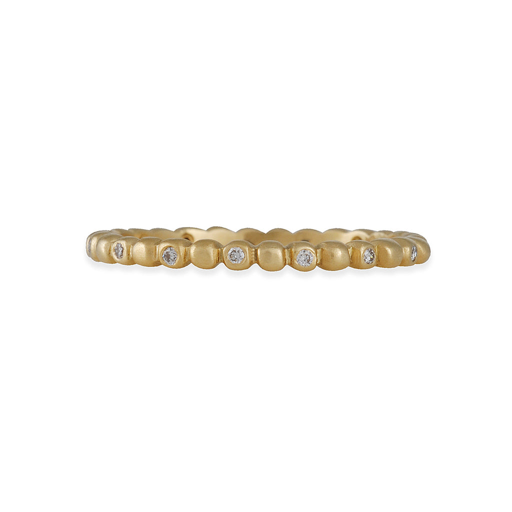 MARIAN MAURER- Diamond Porch Eternity Band in 18K White Gold