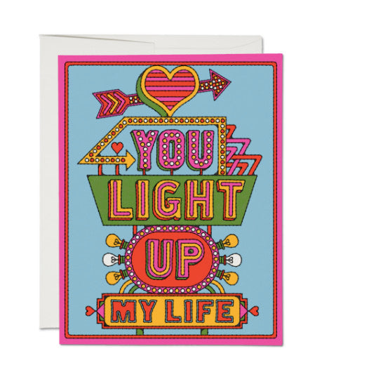 Red Cap Cards- You Light Up My Life Card