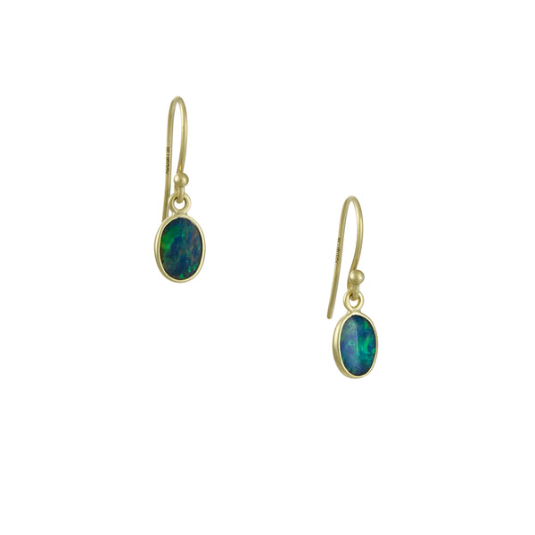 Kothari - Petite Boulder Opal Drop Earrings