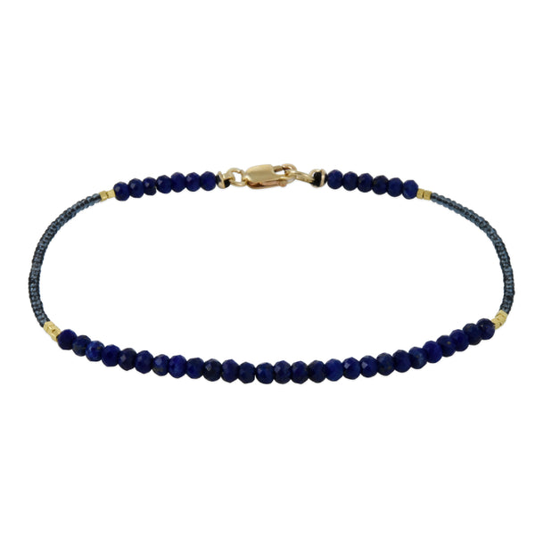 Debbie Fisher - Faceted Lapis Beaded Bracelet