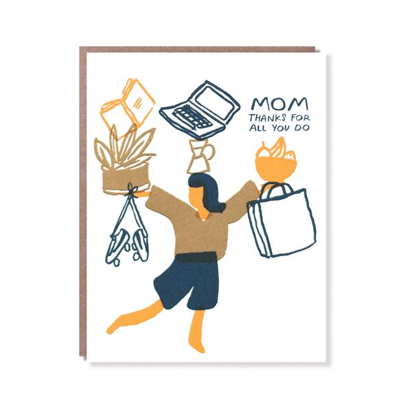 Egg Press - Juggling Mom Card