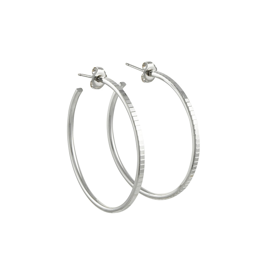 A.V. Max - Deco Hoops in Silver
