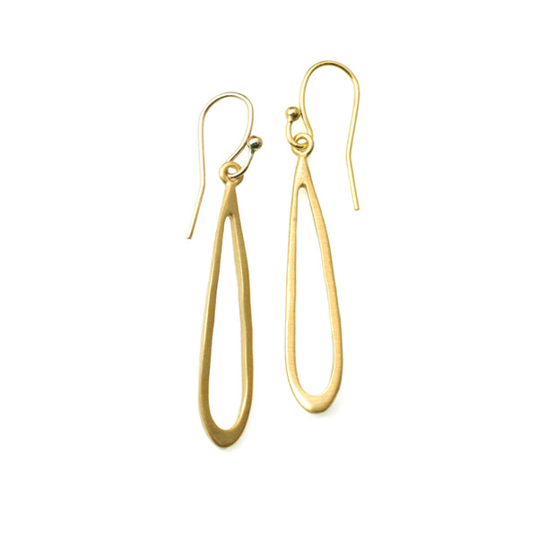 Philippa Roberts - Small Open Teardrop Earrings in Gold Vermeil