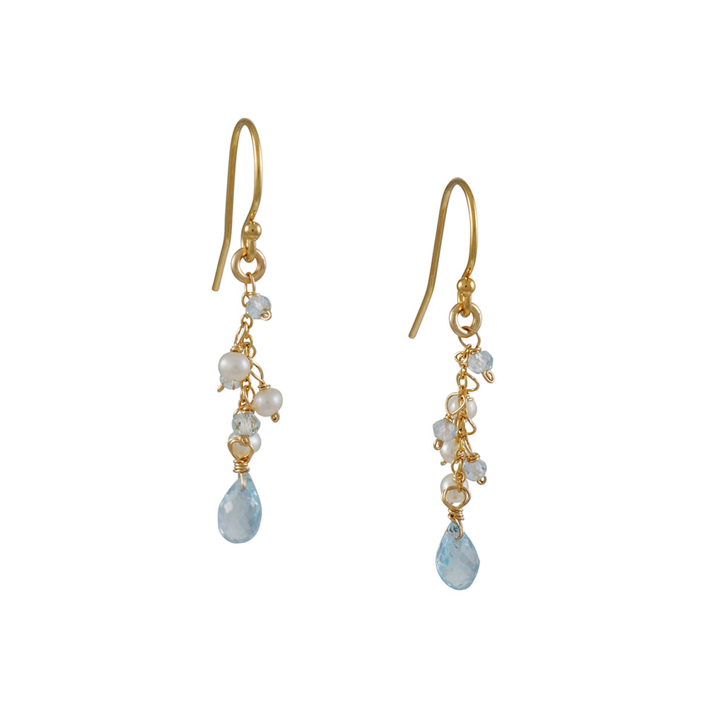 Christina Stankard - Blue Topaz Dangle Earrings