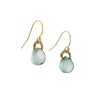 DANIELLE WELMOND - Faceted Mystic Green Quartz Drop Earrings