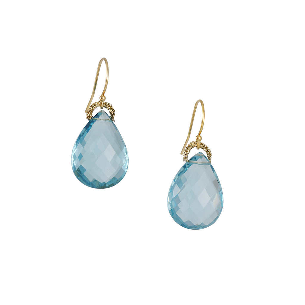 Danielle Welmond - Light Blue Topaz Earrings