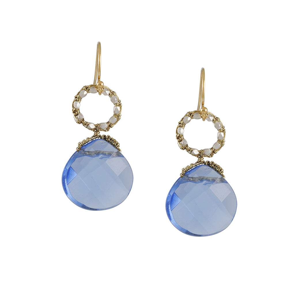 Danielle Welmond- Iolite Drop Earrings
