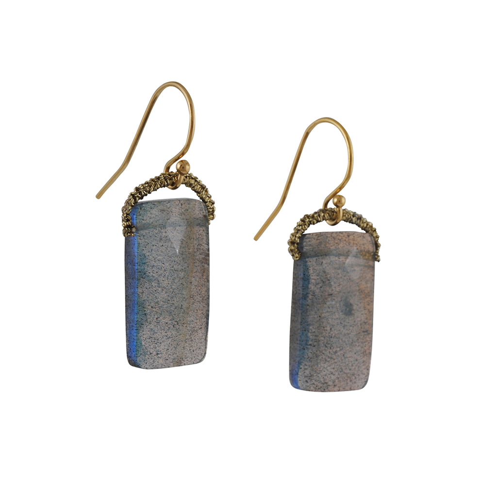 Danielle Welmond - Rectangle Labradorite Earrings