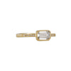 Jennifer Dawes - Blockette Solitaire with Emerald Cut Diamond
