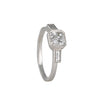 Jennifer Dawes x Diamond Foundry- Three Stone Blockette Ring with Asscher Cut