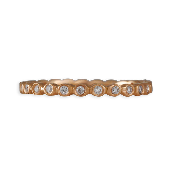 Jennifer Dawes- Diamond Eternity Band in Rose Gold