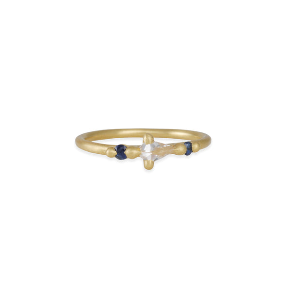 Polly Wales - Anna Diamond Kite Halo Ring