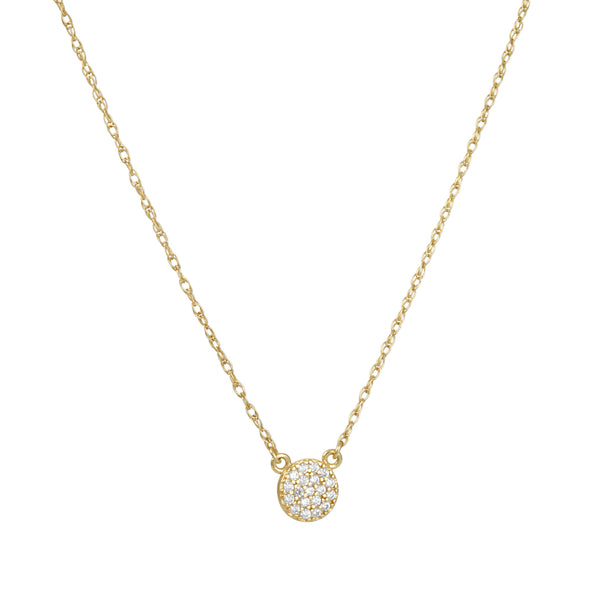Kris Nations - Little Pave Disc Necklace