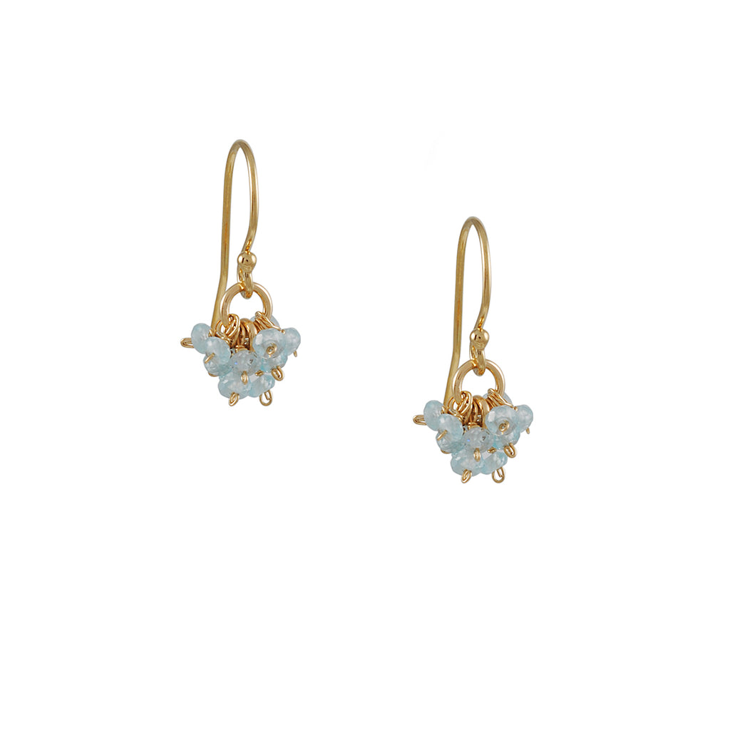 Christina Stankard - Aquamarine Cluster Earrings