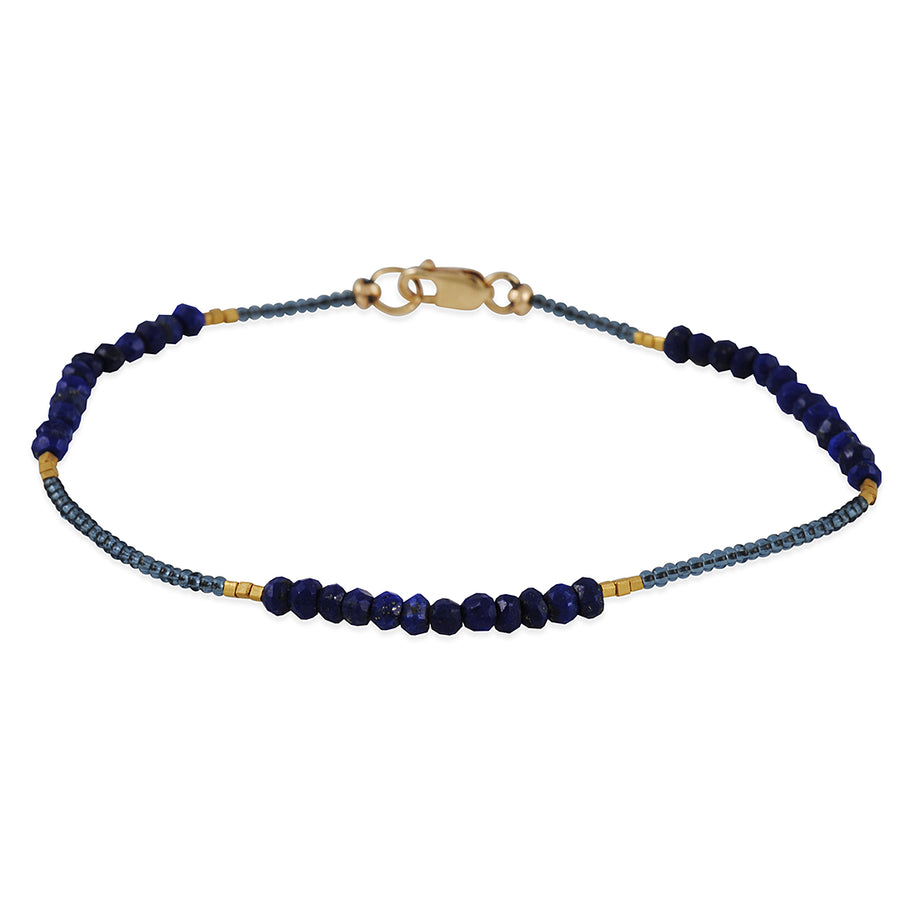 Debbie Fisher - Lapis Beaded Bracelet