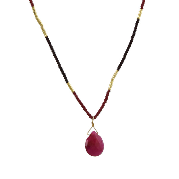Debbie Fisher - Ruby Pendant Necklace