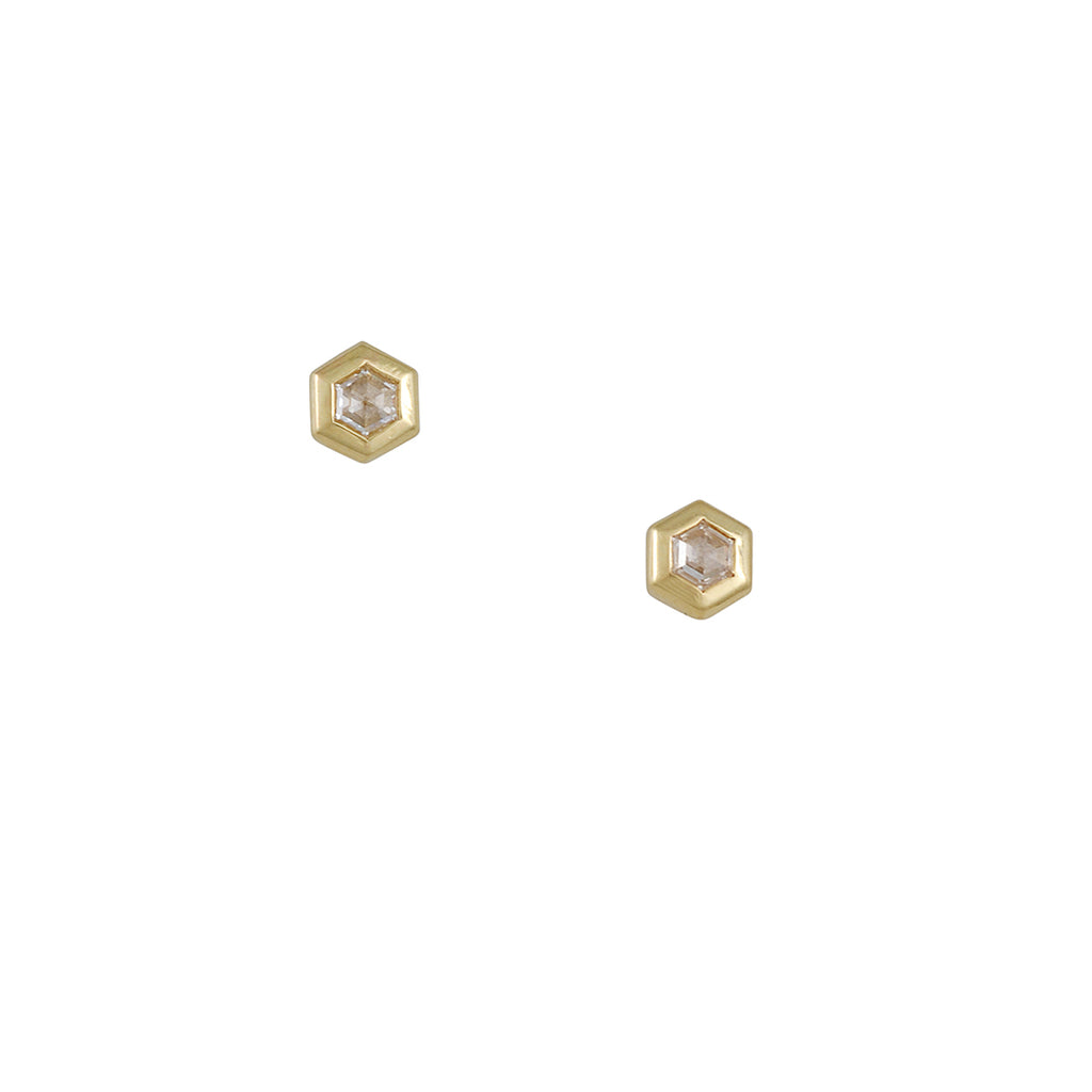 Diana Mitchell - Hexagon Essential Studs