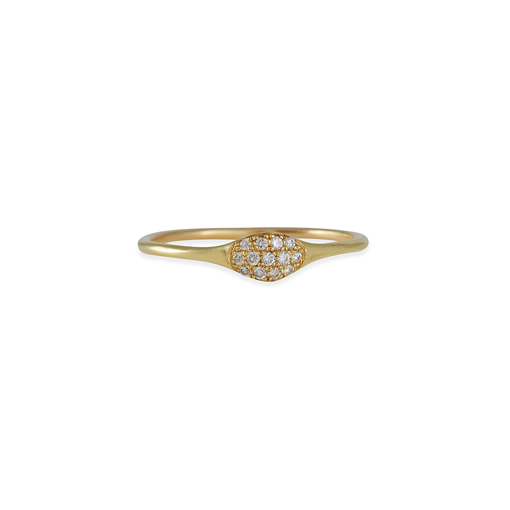 Diana Mitchell - Pave Diamond Wave Ring