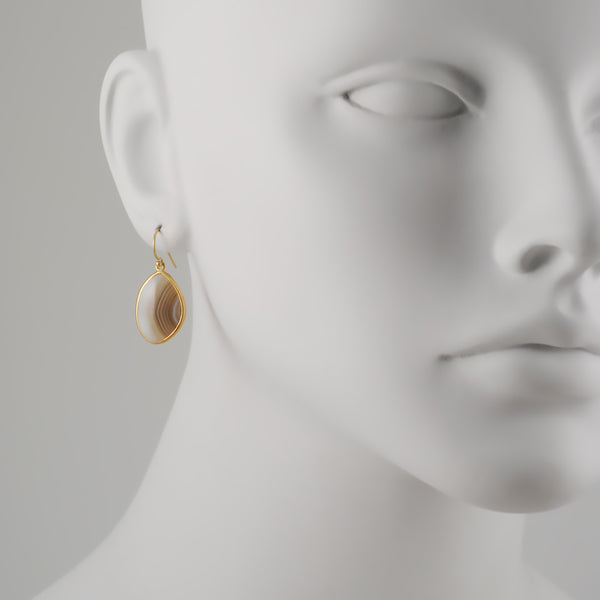 Kothari - Free Form Agate Earrings