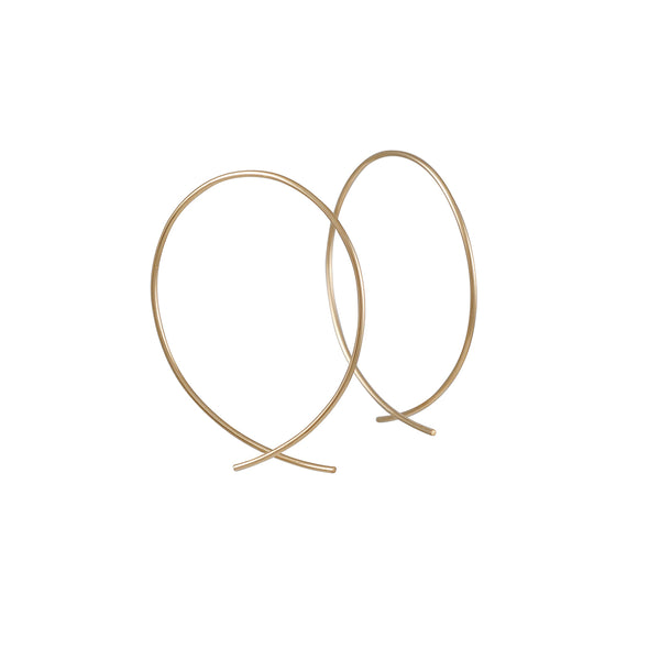 Fish Hoops in Goldfill Earrings