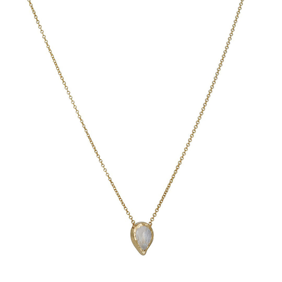 Misa Jewelry - Compass Rainbow Moonstone Necklace