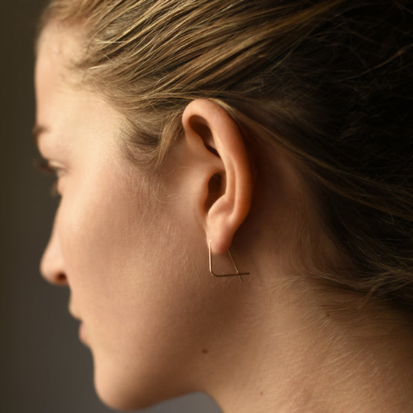 8.6.4 - Small Wren Hoops in Sterling Silver