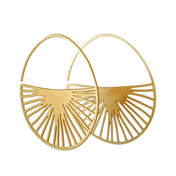 Daphne Olive - Radius Hoops in Gold